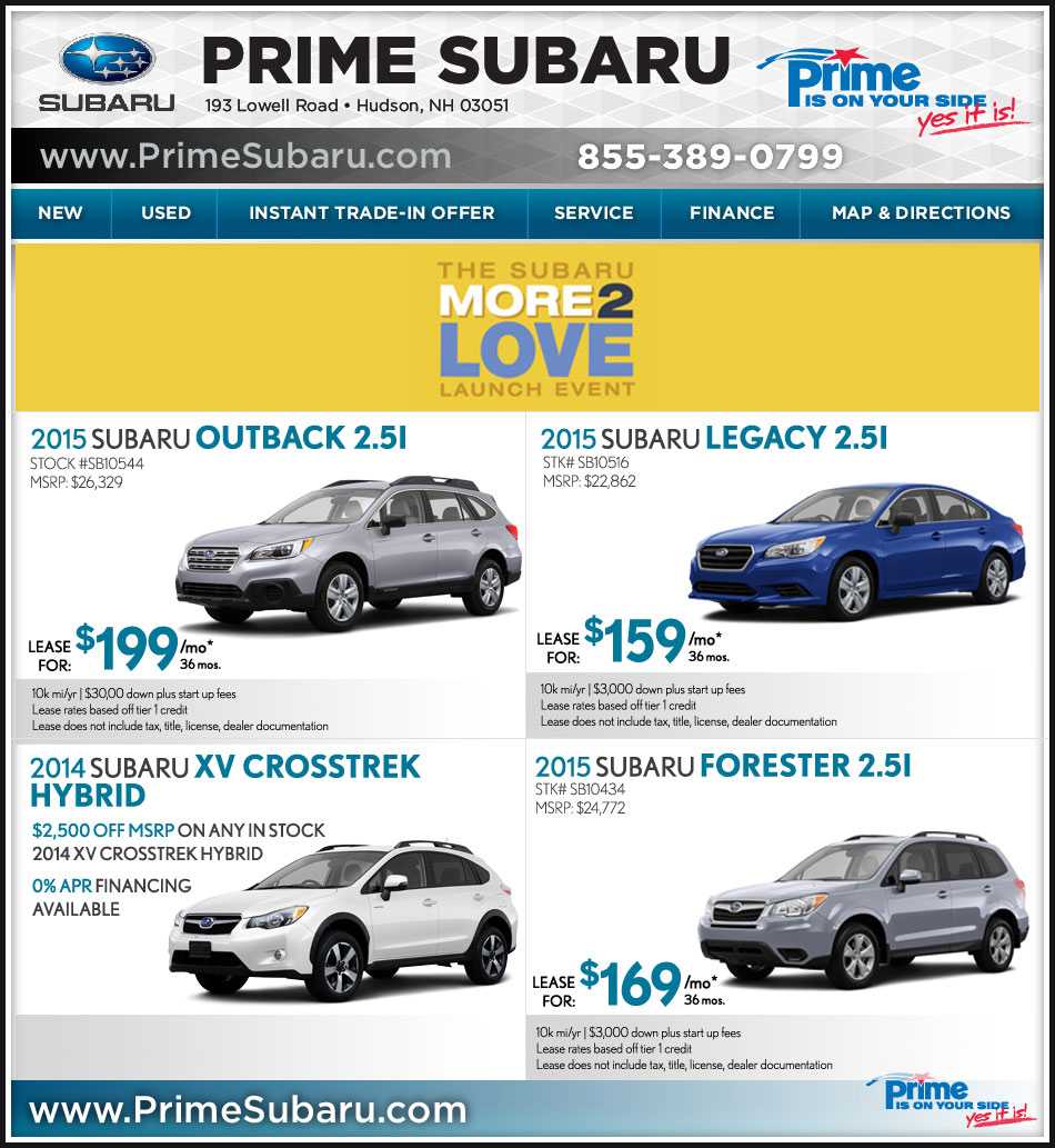prime subaru of nashua nh shop online deals now. Black Bedroom Furniture Sets. Home Design Ideas