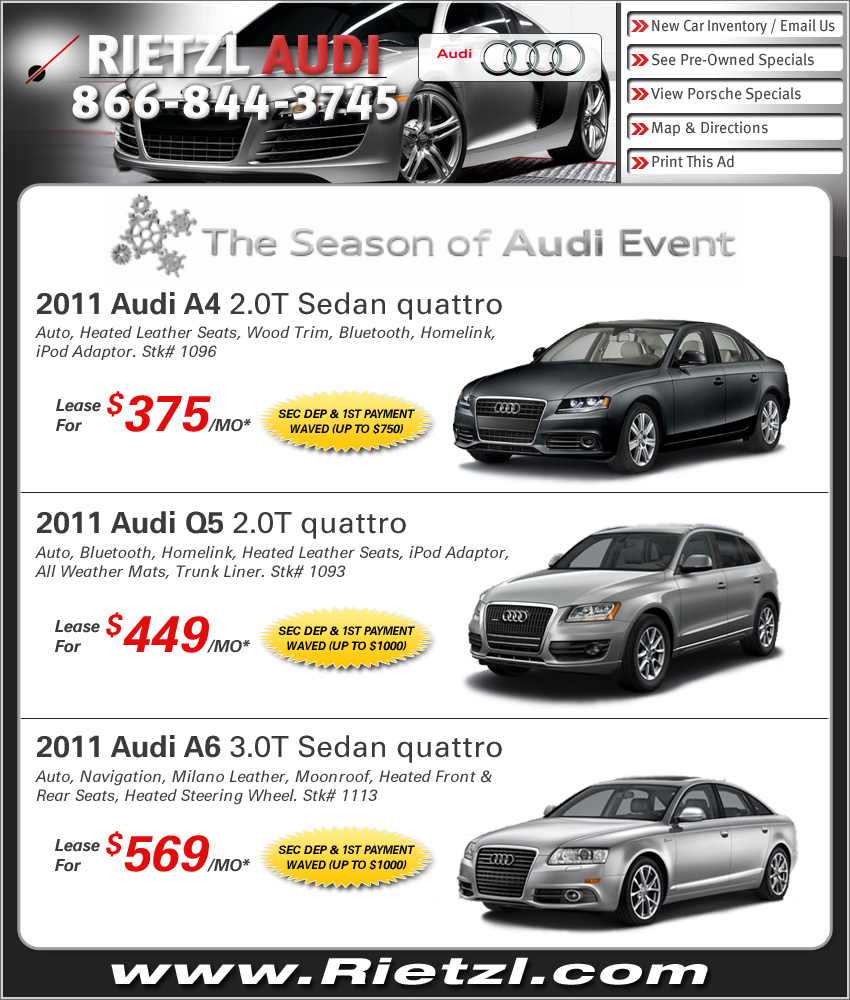 Rietzl Audi Dealer For Boston In Norwell Shop Audi Deals