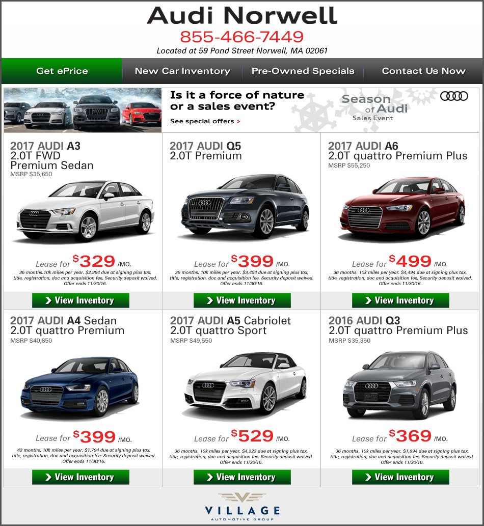 Greater Boston New Car Deals At Audi Norwell. Lease Or Buy