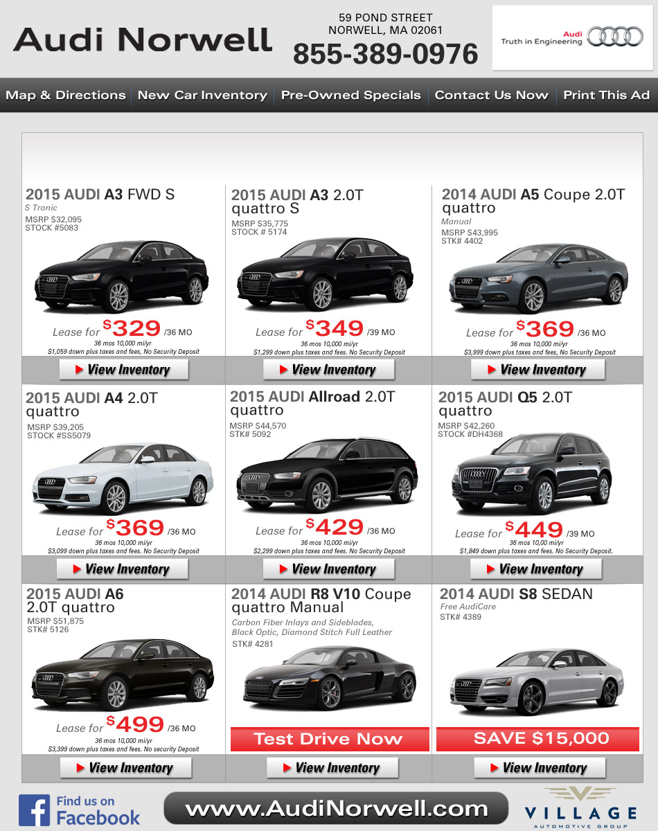 Boston Audi Deals Audi Norwell