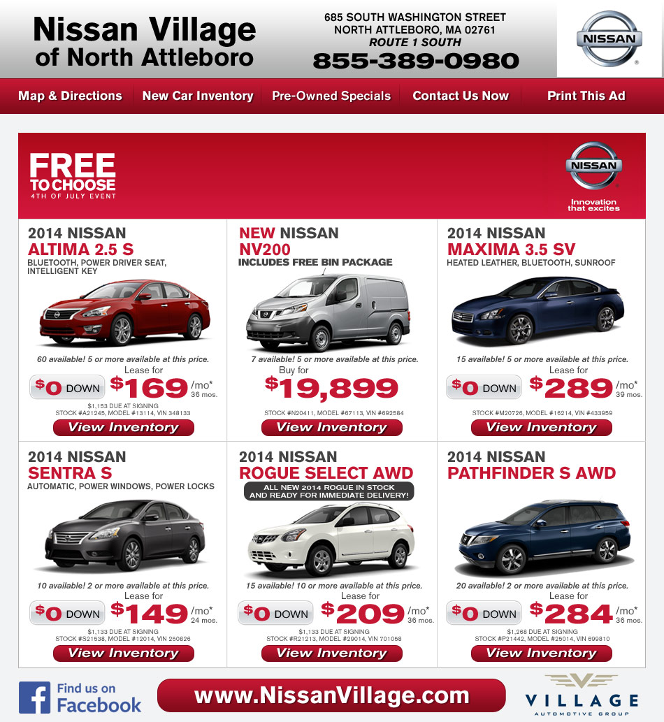 Nissan Village Nissan Dealer In Attleboro Ma