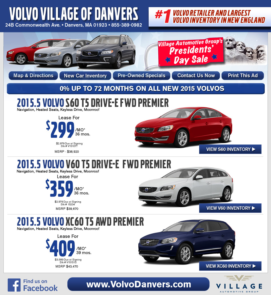 Danvers Ma Volvo Dealership Volvo Village Ma New Car Deals