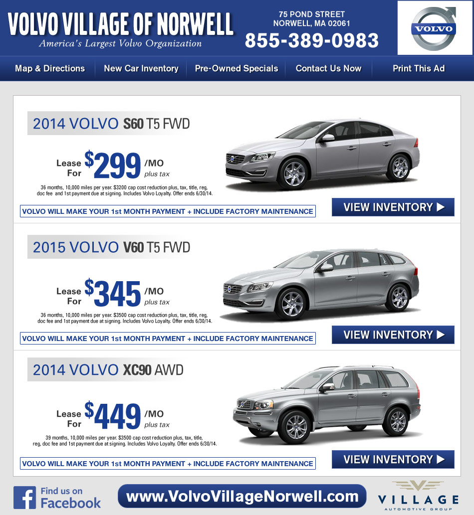 Volvo Village Of Norwell Volvo Dealer On Boston S South