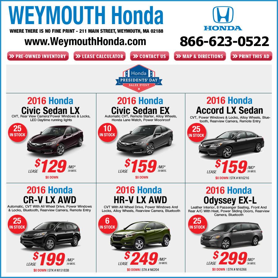 New honda specials in boston ma autos post for Honda cars of boston everett ma