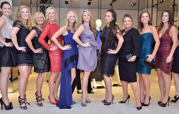 The Red Sox wives hosted the 11th annual From Fenway to the Runway fundraiser at Saks Fifth Avenue in Boston on Sept 13.