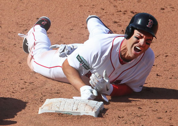 Stan Grossfeld / Boston Globe - Ellsbury crushed
