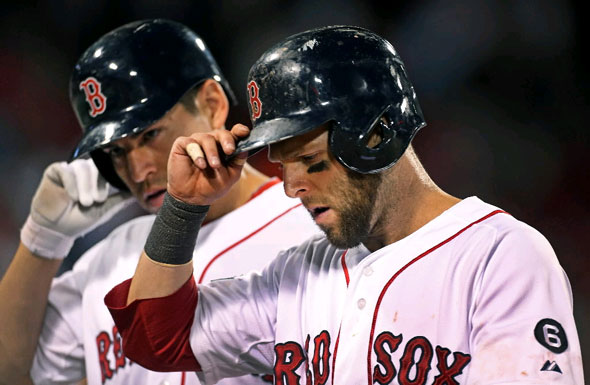 Pedroia, Ellsbury - Jim Davis, Boston Globe