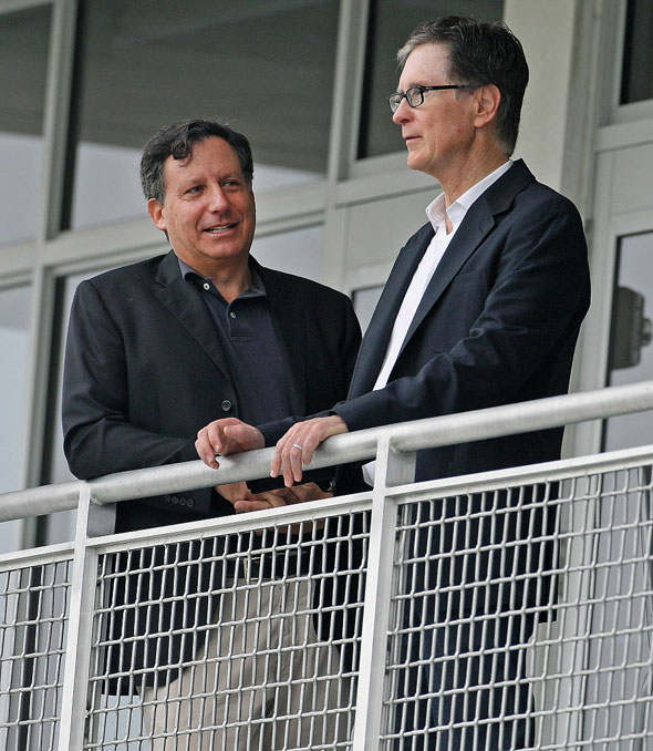 Boston Red Sox owners Tom Werner and John Henry