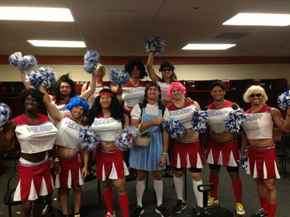 Red Sox rookies in drag