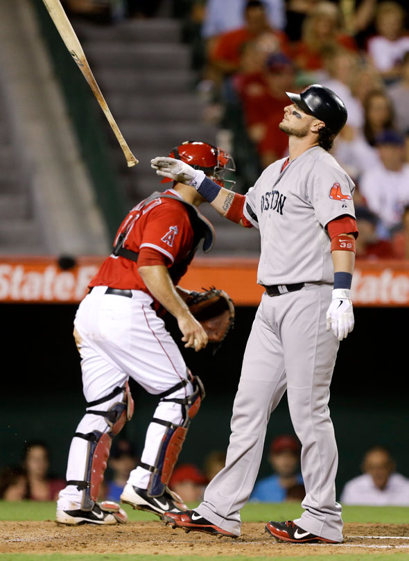 The Boston Red Sox were swept by the Los Angeles Angels of Anaheim at Angel Stadium