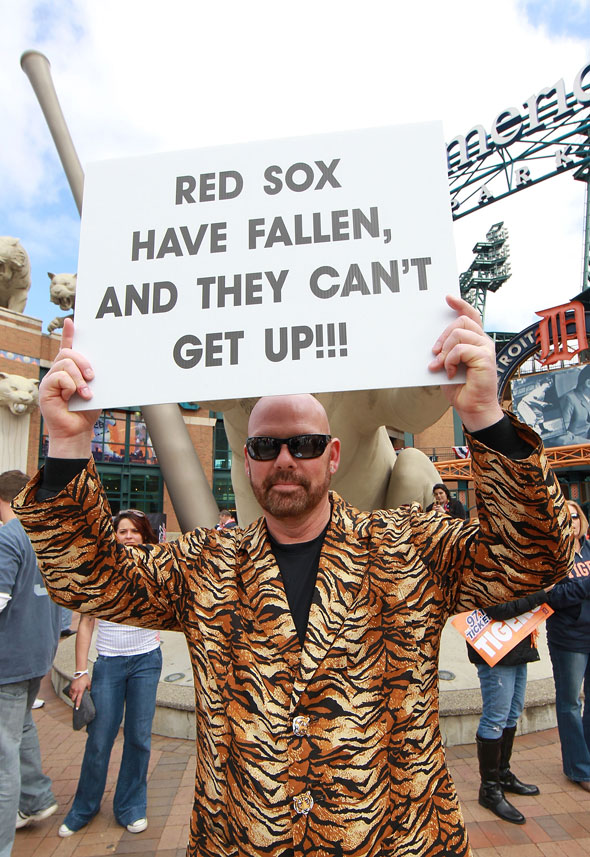 Tigers fan takes a shot at the Sox back in 2012
