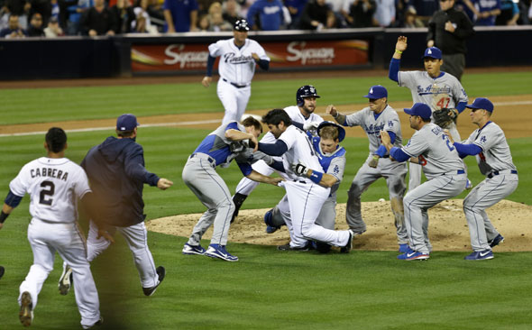 Dodgers-Padres brawl