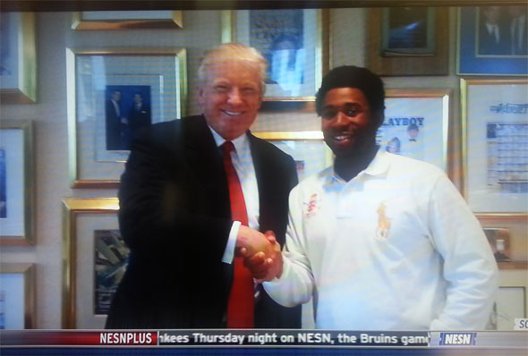Donald Trump and Jackie Bradley, Jr.