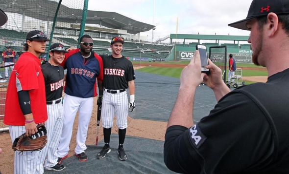David Ortiz and the Northeastern Huskies