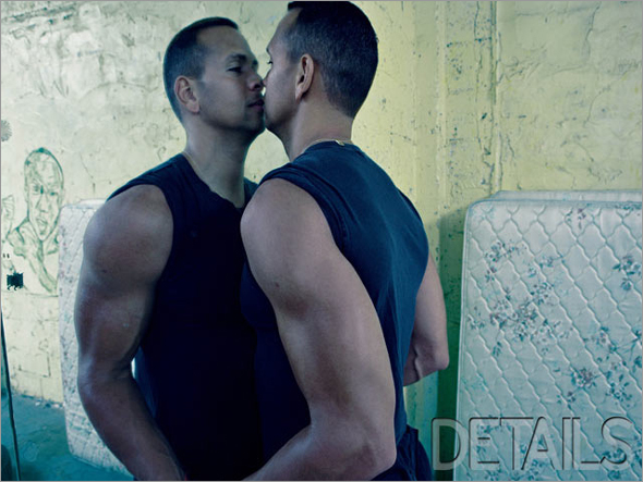 Yankees slugger Alex Rodriguez poses for a photo spread in DETAILS magazine.