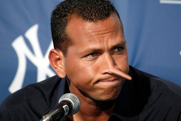 Yankees Alex Rodriguez addresses the media at George Steinbrenner Field in Tampa, Fla., Tuesday, Feb. 17, 2009.