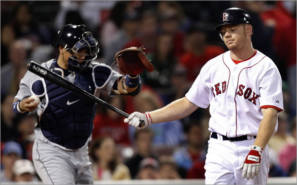 Brandon Moss's reaction after striking out in the 9th could be applied to the Red Sox offense which was non existent as the Boston Red Sox were shut out 8-0 against the Seattle Mariners