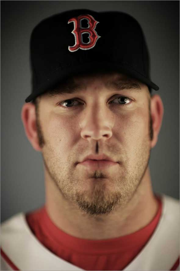 Brad Penny of the Boston Red Sox poses during photo day at the Red Sox spring training complex February 22, 2009 in Fort Myers, Florida