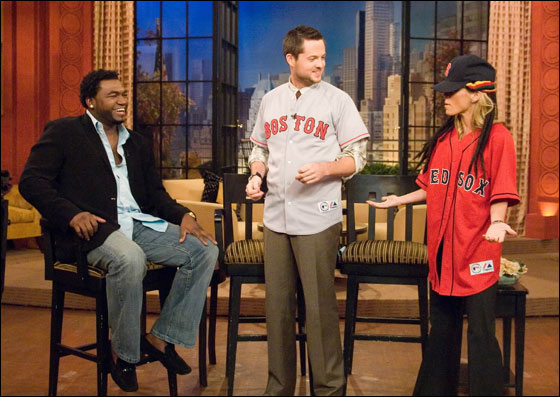 David Ortiz, Damien Fahey, and Kelly Ripa