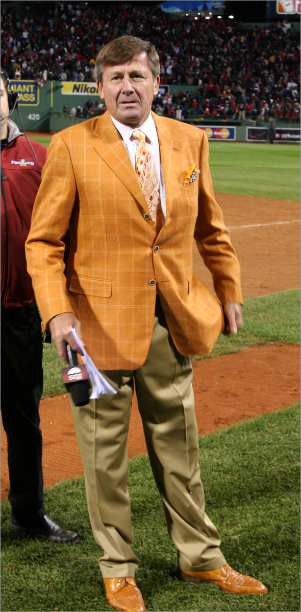 Craig Sager after the Red Sox Game 4 win