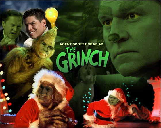 Boston Dirt Dogs photo illustration: Boras as the Grinch