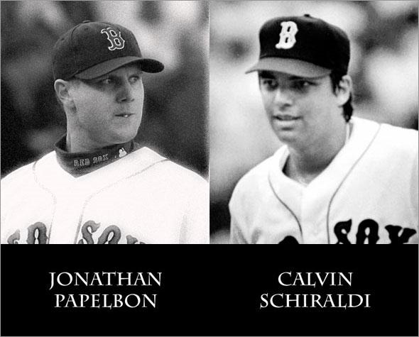 Calvin Schiraldi and Jonathan Papelbon