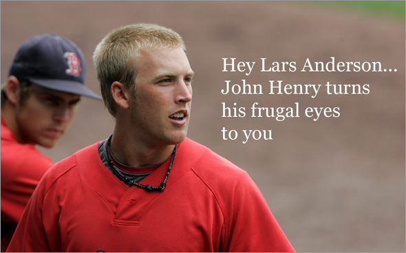 Red Sox minor leaguer Lars Anderson