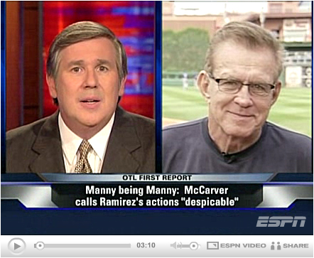 ESPN video: McCarver stands by his despicable words