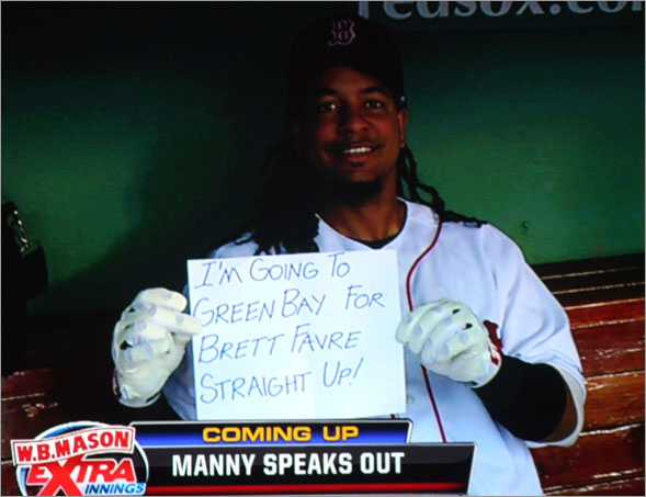 The sign of the times, Manny being Manny