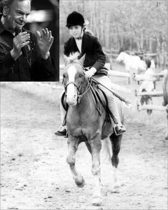 Caroline Kennedy age 10 daughter of Mrs. John F. Kennedy puts her mount through the paces as the outdoor horse show season opened at the Gill School in New Vernon NJ in 1968