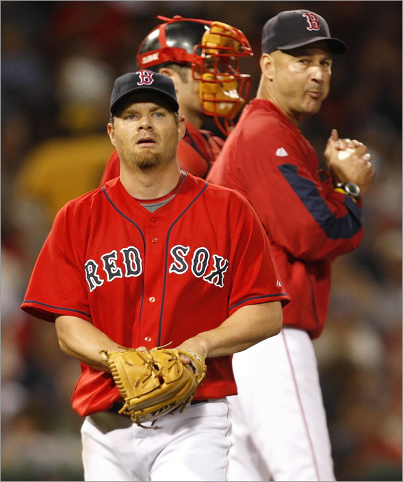 08/16/08 - Boston Red Sox manager Terry Francona took out Boston Red Sox pitcher Paul Byrd in the 8th