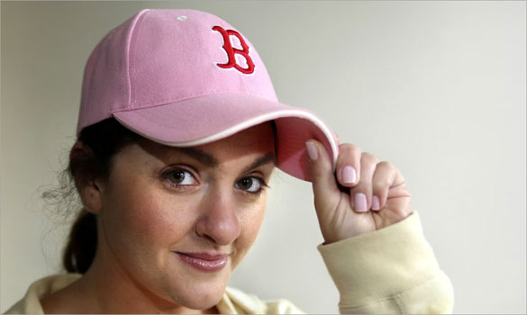 When a friend told Anne Houseman that wearing her pink Red Sox hat meant she was only a