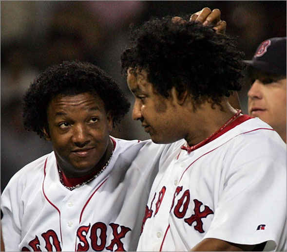 Pedro Martinez and Manny Ramirez at Fenway, July 22, 2004