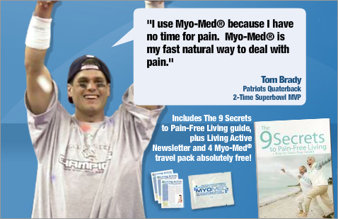 Tom Brady Uses Myo-Med to relieve pain