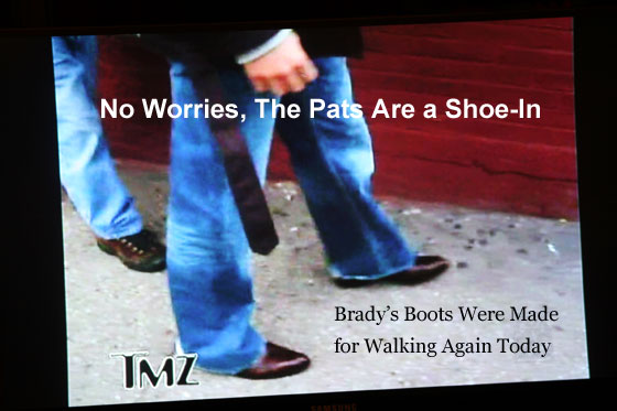 No Worries, Pats Are a Shoe In