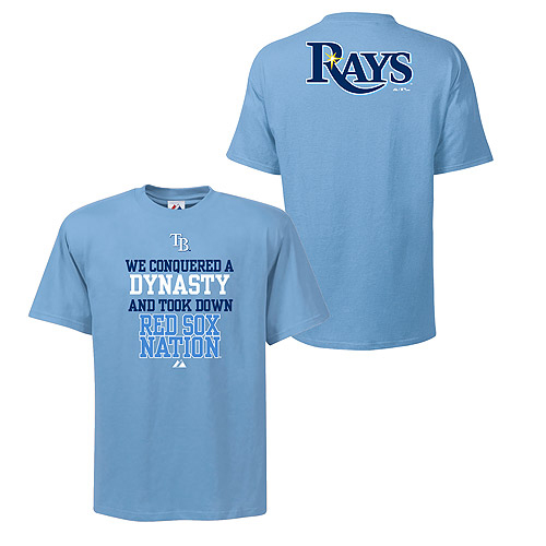 Tampa Bay Rays Conquer T-Shirt by Majestic Athletic