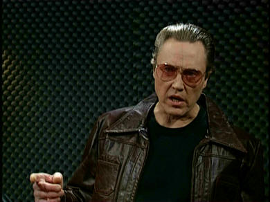 Christopher Walken demands more cowbell; More Cowbell sketch, Saturday Night Live.