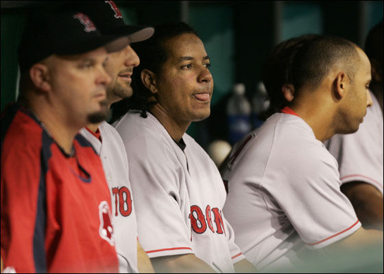 Manny on the bench