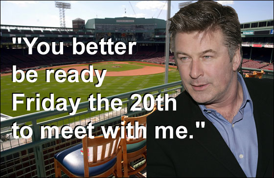 Alec Baldwin to heckle the Bronx Bombers tonight