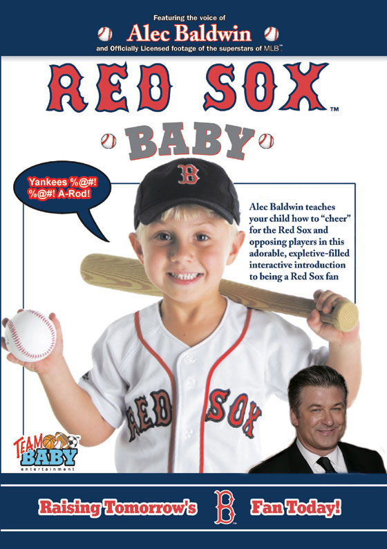 Alec Baldwin presents Red Sox baby