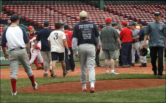 CarlBeane.com photo: Benches clear in Boston-New York media game