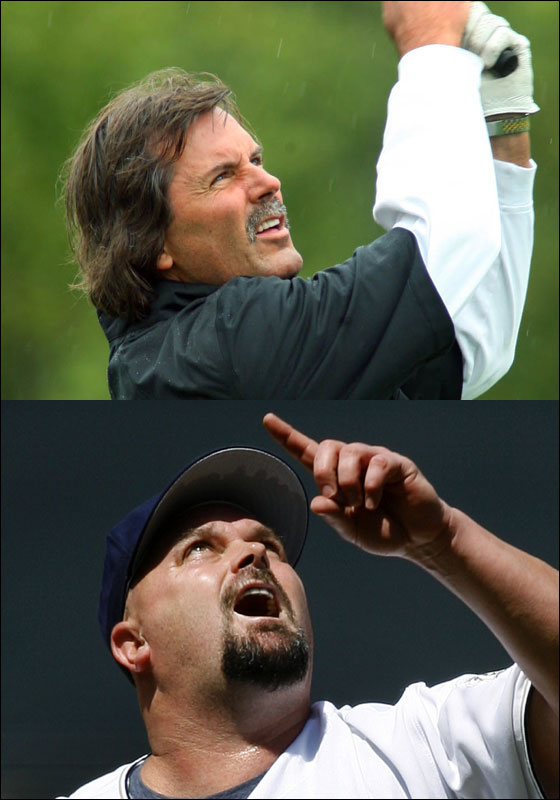 Hall of Famer Dennis Eckersley and the former embedded Yankee