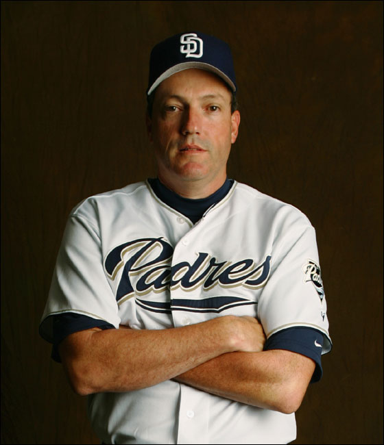 Dave Magadan #12 of the San Diego Padres poses for a portrait during the San Diego Padres Photo Day at Peoria Stadium on February 26, 2005 in Peoria, Arizona.