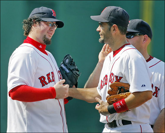 Gagne makes his Fenway debut