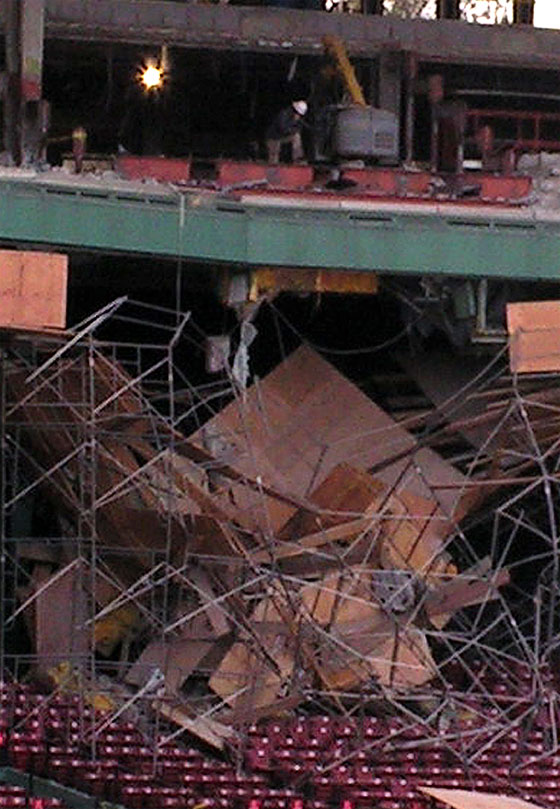Scaffolding Falls at Fenway