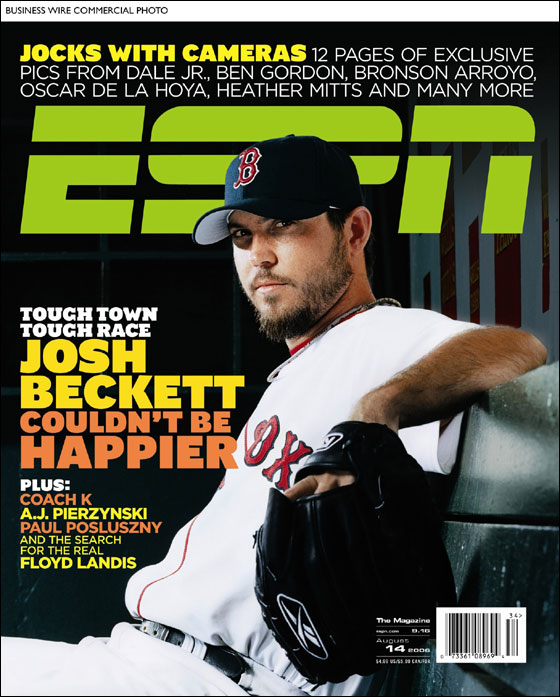 Beckett on cover of ESPN Magazine this week