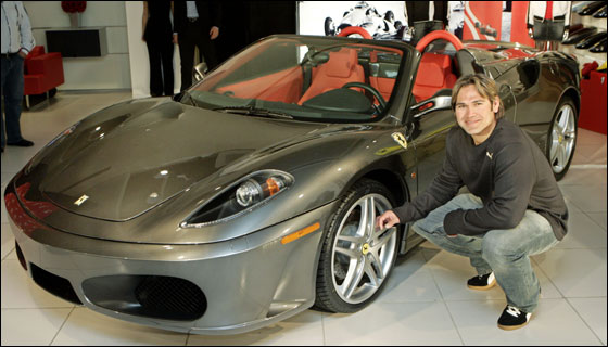 Johnny Damon's Ferrari