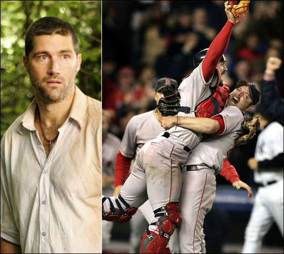 Jack, played by Matthew Fox, had to see footage of the Red Sox 2004 World Series win to be convinced that he and the Others were in contact with the outside world.
