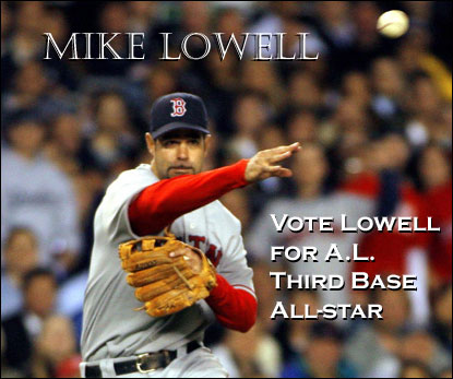 Vote Mike Lowell, American League Third Base All-Star