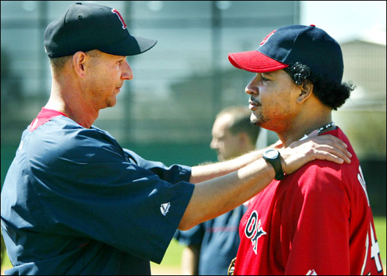 Manny Ramirez and Terry Francona